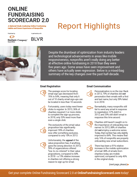 Online Fundraising Scorecard 2.0 - Highlights PDF